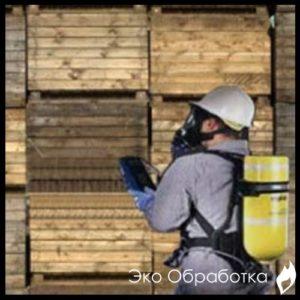 процедура фумигации древесины