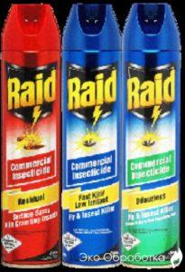 спрей от тараканов raid