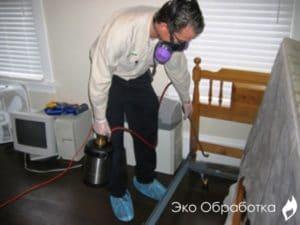 опрыскивание как средство борьбы c бельевыми тараканами